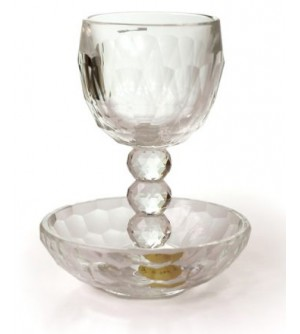 Verre de Kiddouch en verre