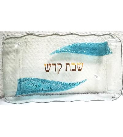 Plateau de Chabbat en verre