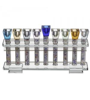Hanoukia Cristal Tubes couleur avec pierres