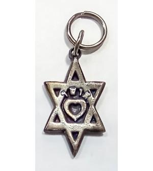 Porte clé étoile de David - Ocher (Bonheur)
