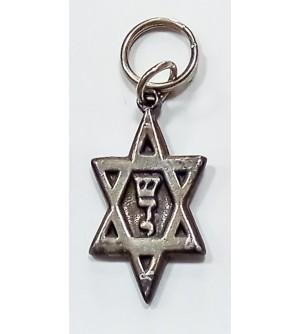 Porte clés étoile de David - Chaday