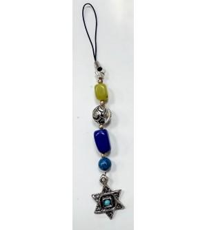 Porte clés pendentif avec étoile de David