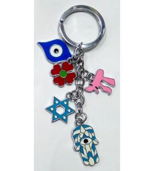 Porte clés pendentif couleur