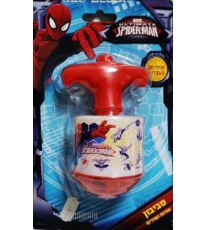 Toupie musicale et lumière Spiderman